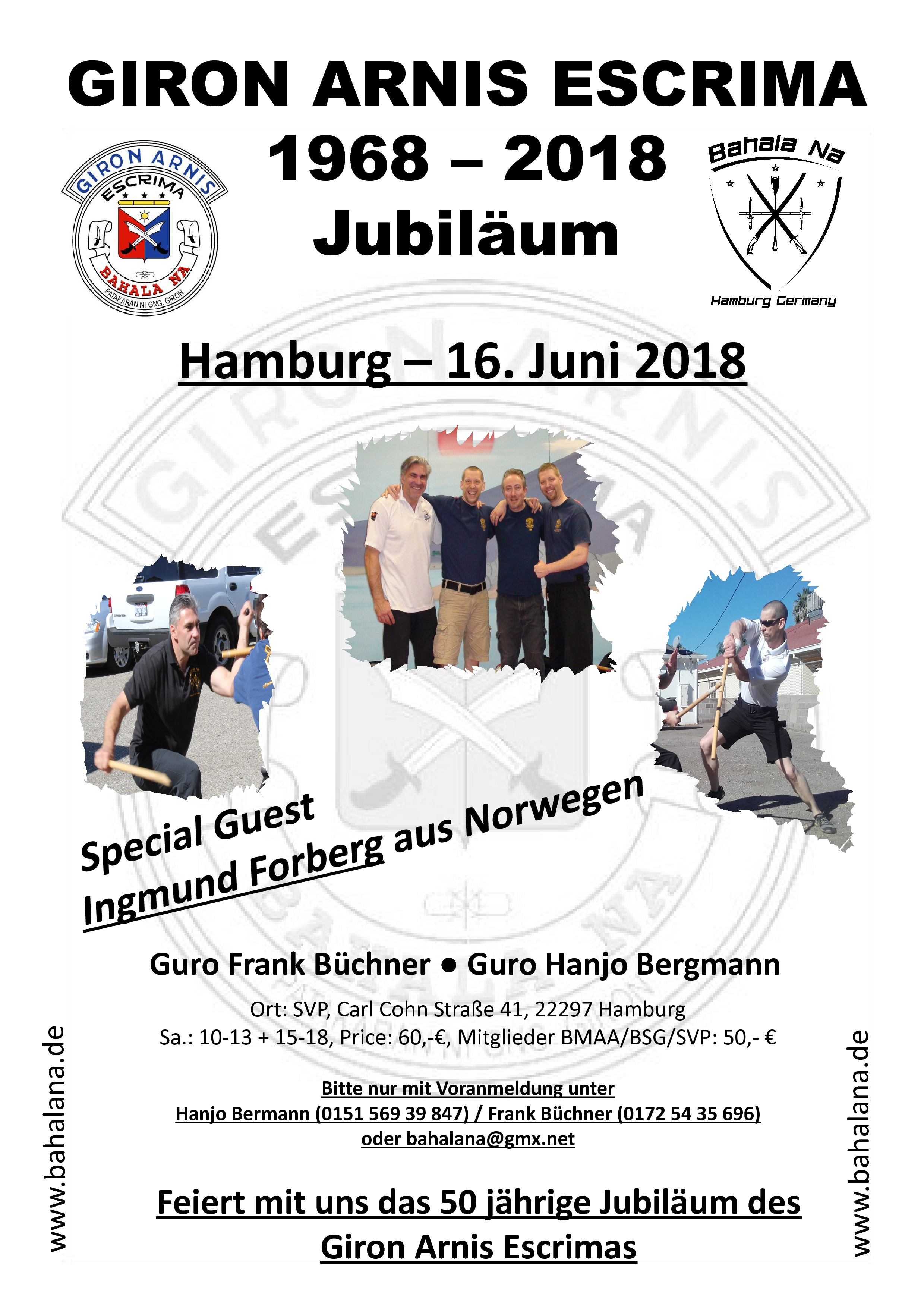 Einladung zum Jubiläumsseminar 16  Juni in HH